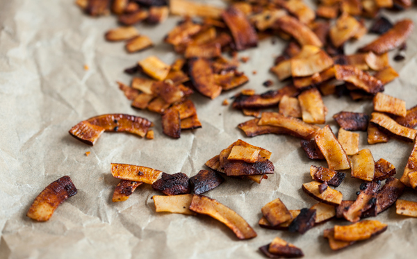 "Easy, delicious vegan coconut ""bacon"" 