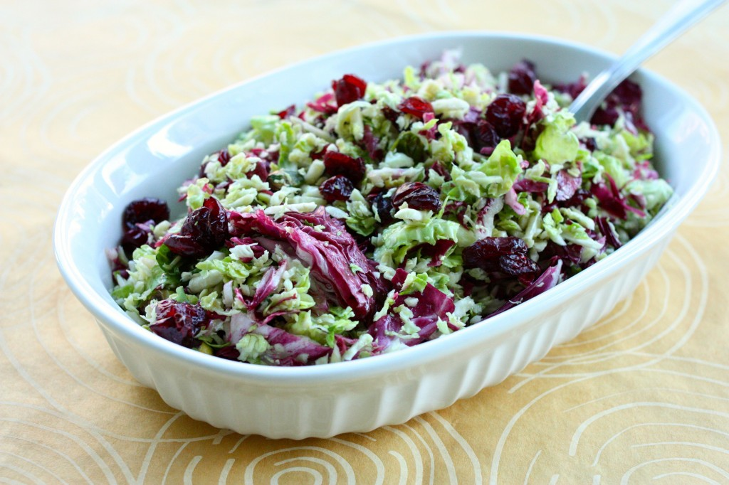 raw thanksgiving brussels sprout salad 2