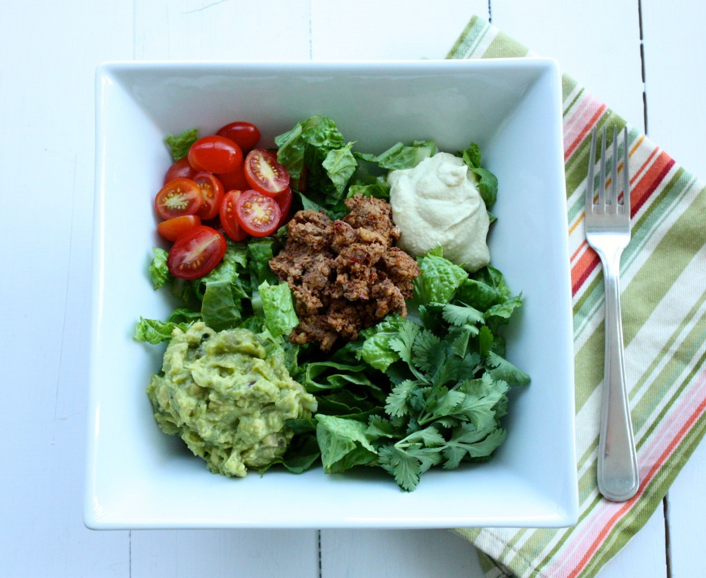 raw vegan taco salad 1