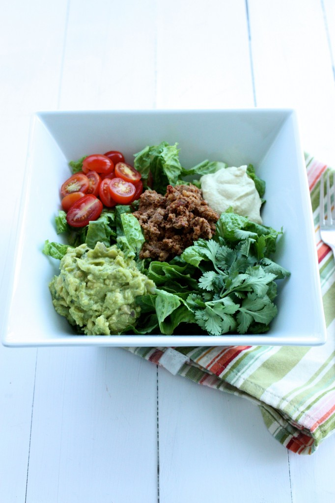 raw vegan taco salad long