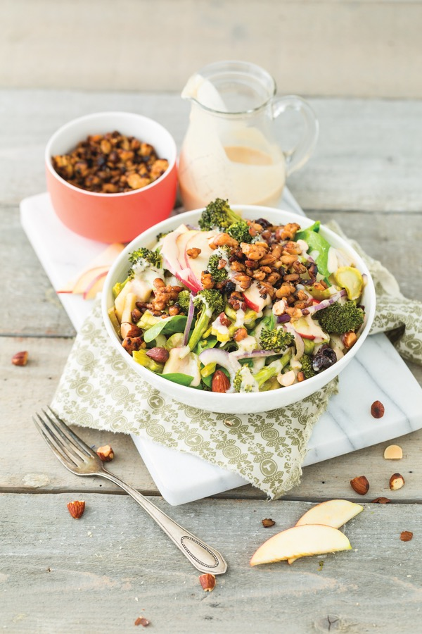 But I Could Never Go Vegan.Roasted Broccolli & Apple Salad with Lemon Tahini Dressing-1