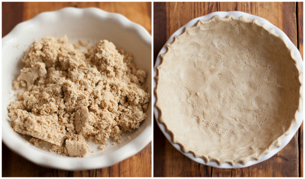 Oat and rice crust