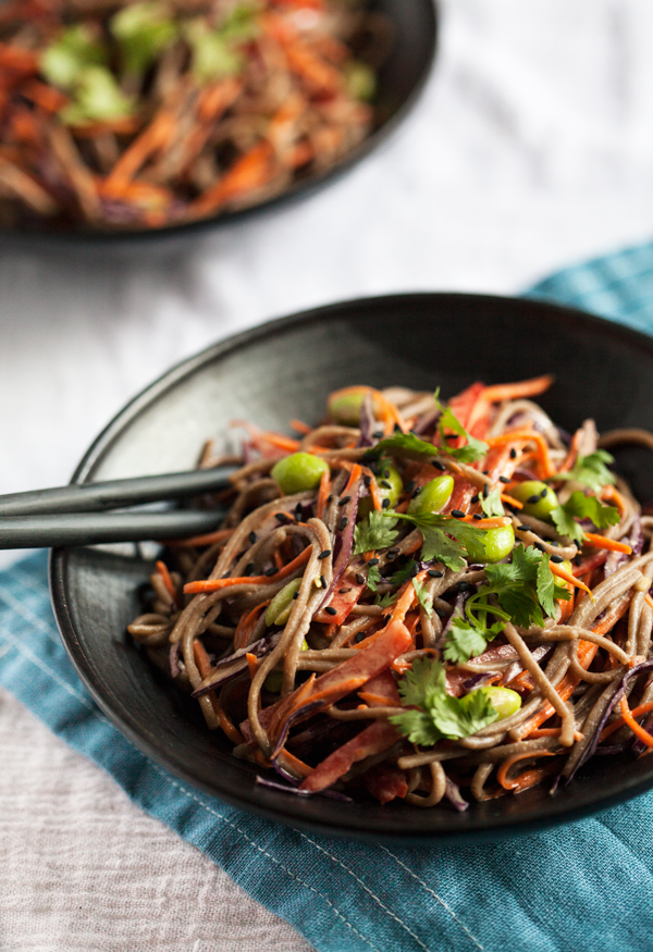 Easy Tahini and Soba Noodle Salad | The Full Helping
