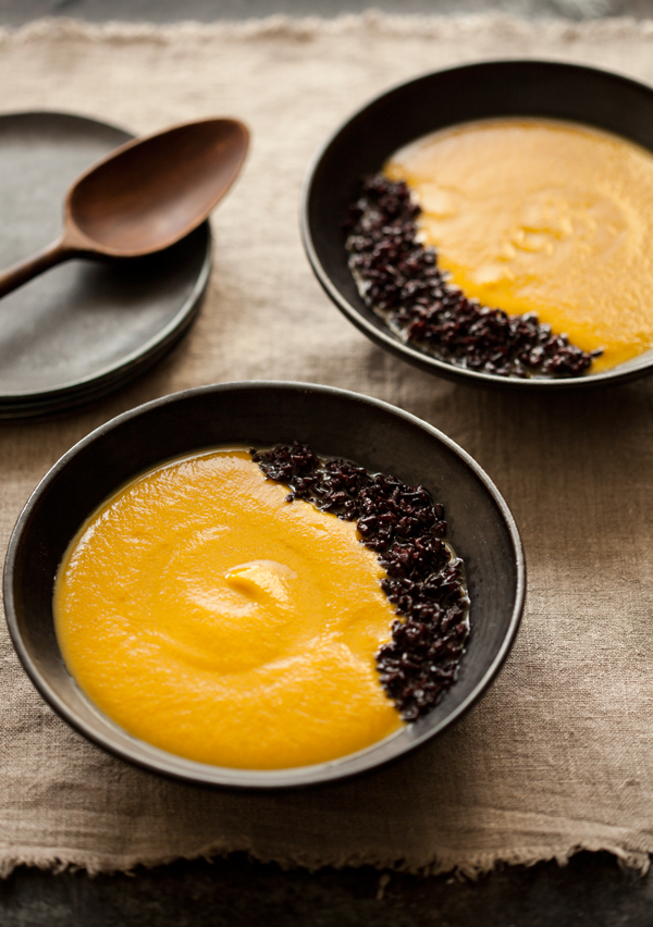 Creamy butternut squash and five-spice soup | The Full Helping