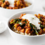 Easy Curried Chickpeas and Spinach | The Full Helping