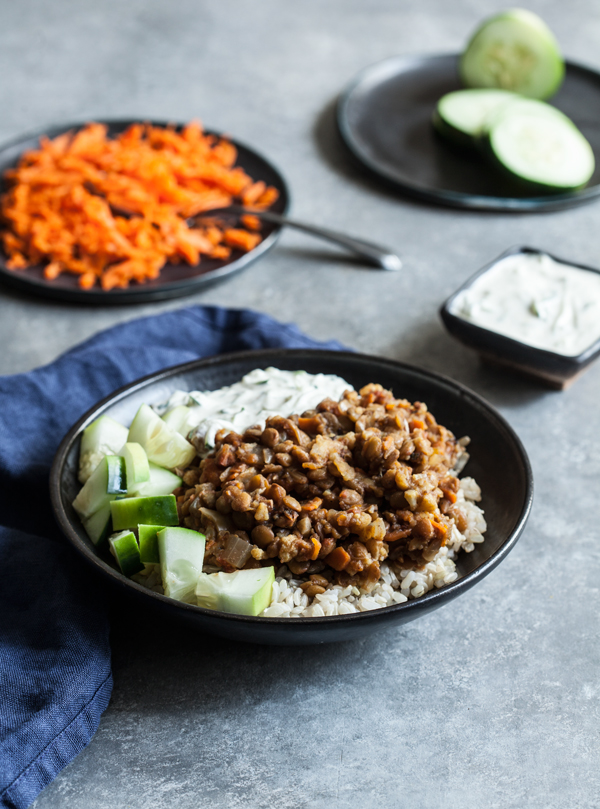 Slow Cooker Spiced Lentils and Cauliflower from Inspiralize Everything | The Full Helping