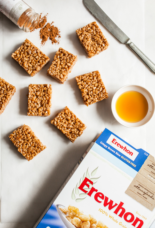 Caramel Cinnamon Crispy Treats | The Full Helping