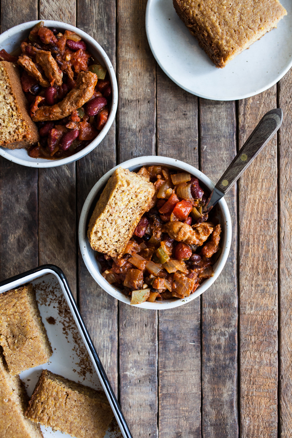 Hearty Vegan Chick'n & Bean Chili | The Full Helping