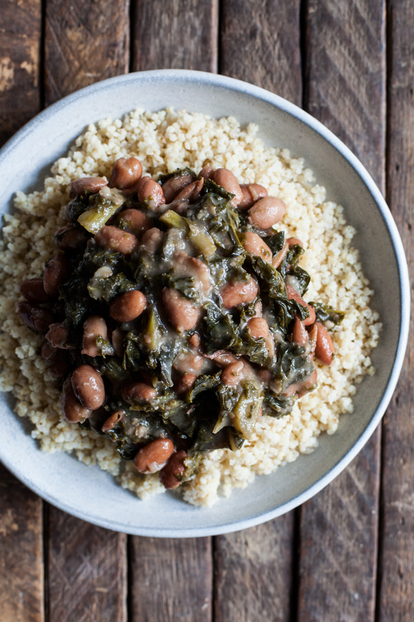 Great Big Pot of Braised Beans & Kale | The Full Helping