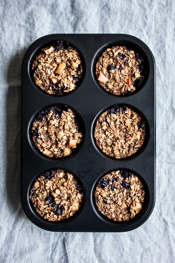 Apple Berry Baked Oatmeal Cups   The Full Helping