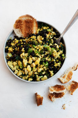 Scallion Black Bean Tofu Scramble