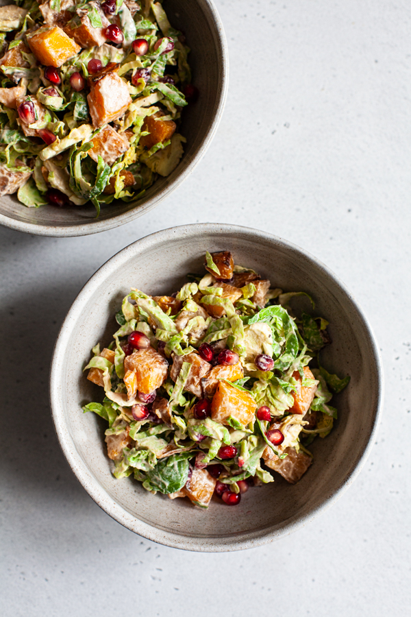 Roasted Butternut & Shaved Brussels Sprout Salad | The Full Helping