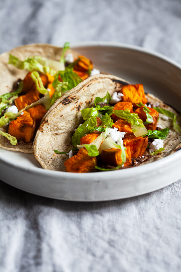 Easy Vegan Black Bean Sweet Potato Tacos