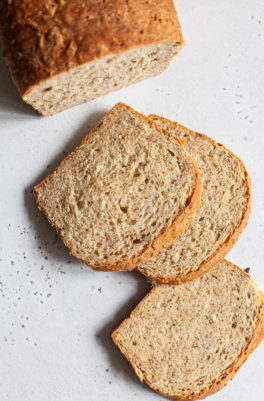 Easy Vegan Multigrain Bread